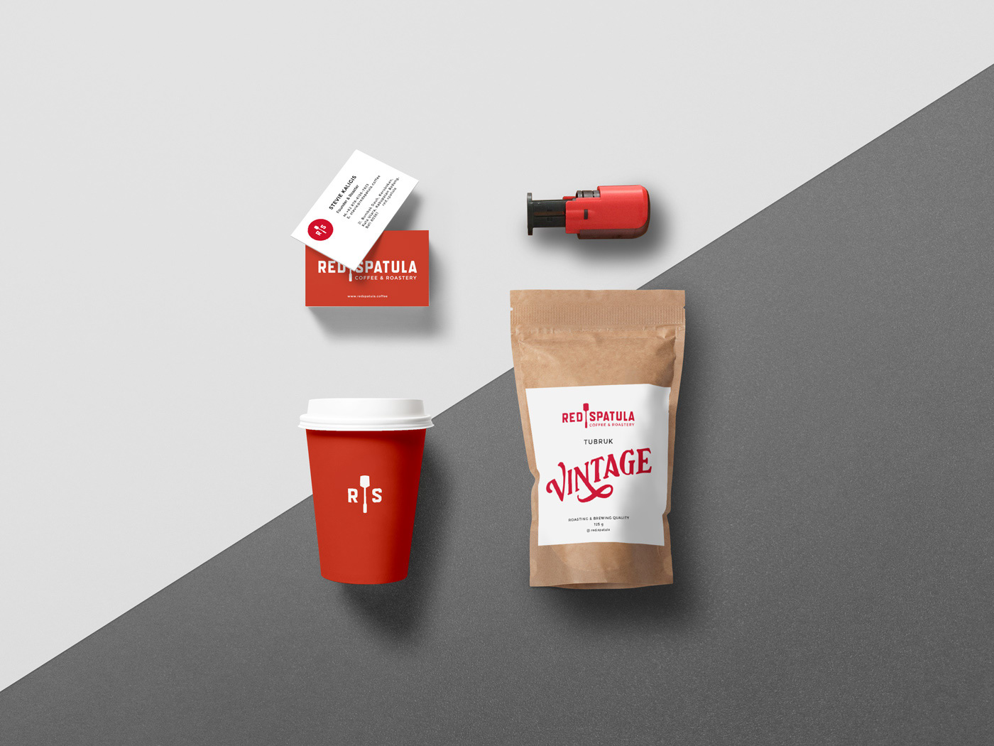 Coffee packaging design Cold Brew business card visual identity