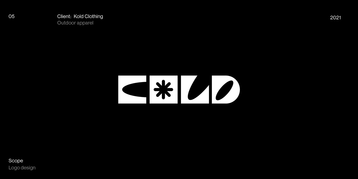 Kold clothing logotype design