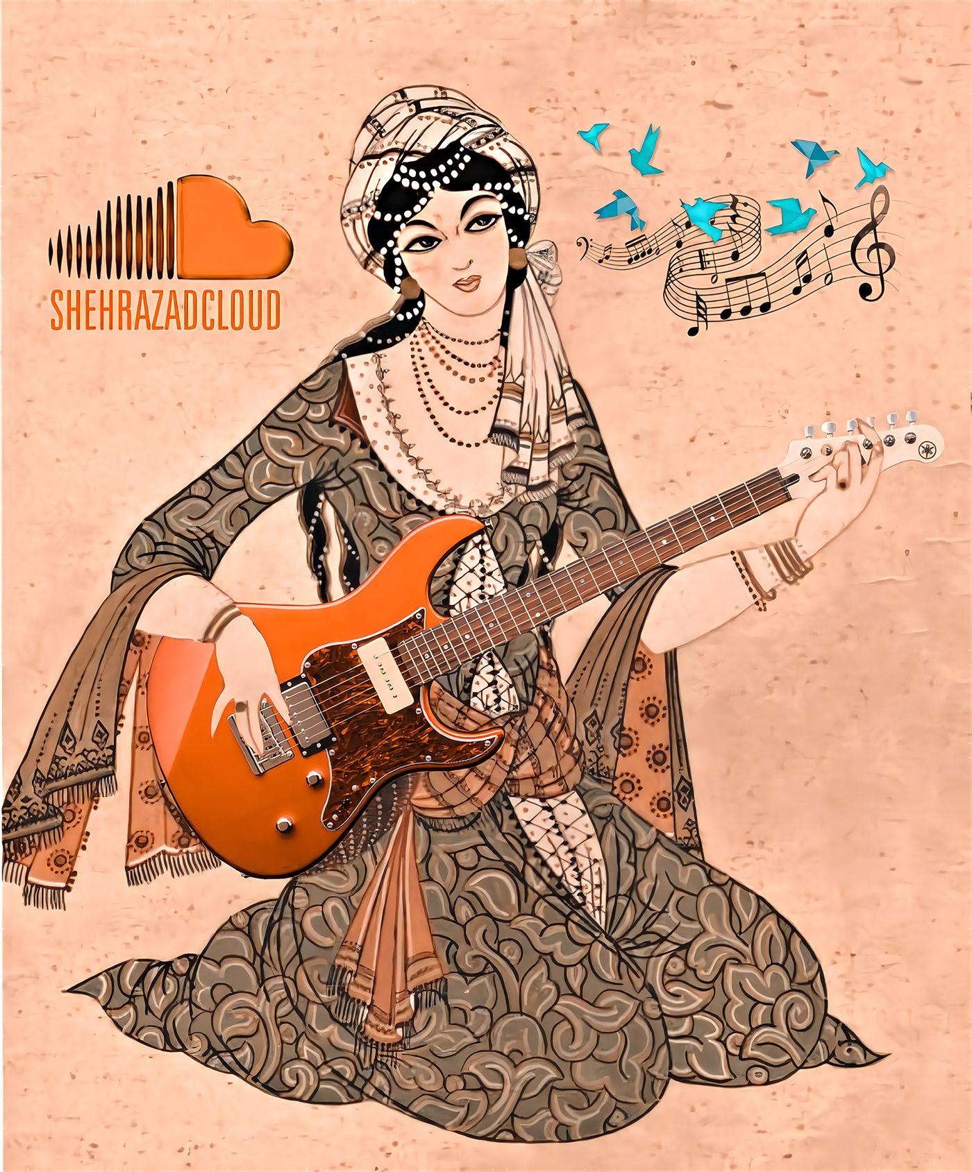 adige batur arabic art digital fgraphi ilustracion modern art persian