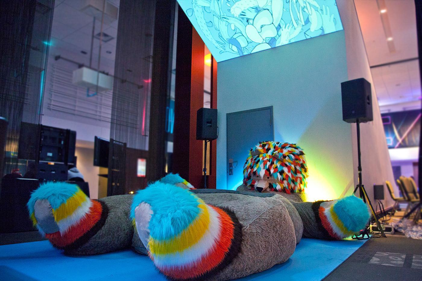 marvin the bear giant bear FITC Toronto Art Installation 12' bear