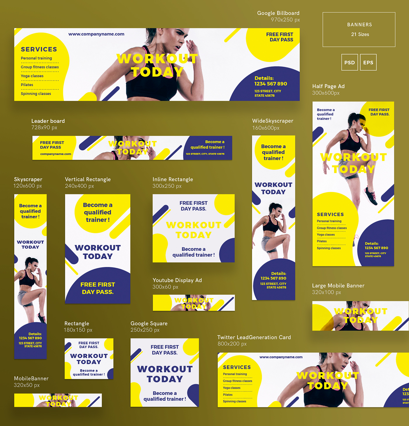 workout modern and creative templates suite on behance