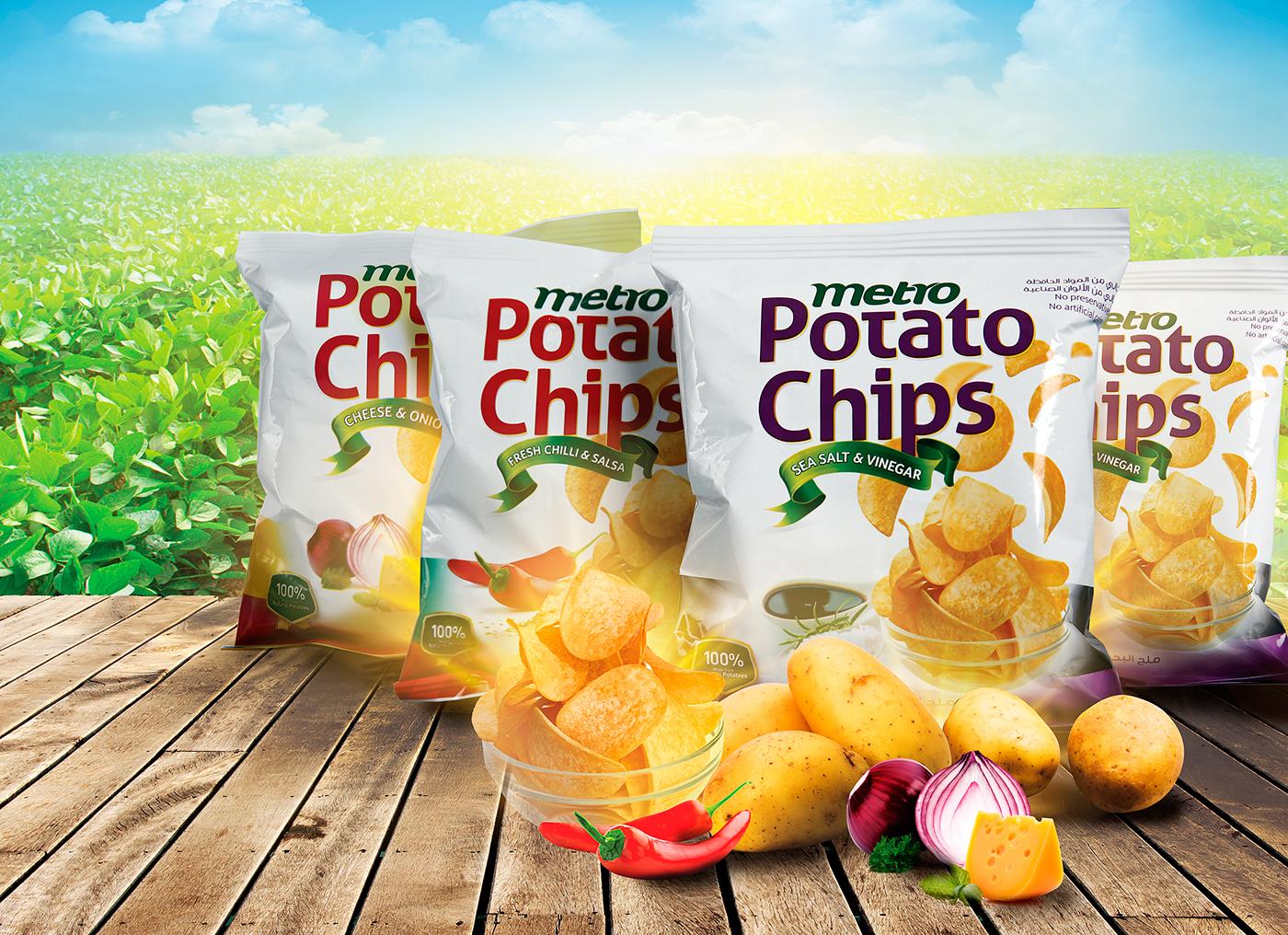 Metro Potato Chips on Behance