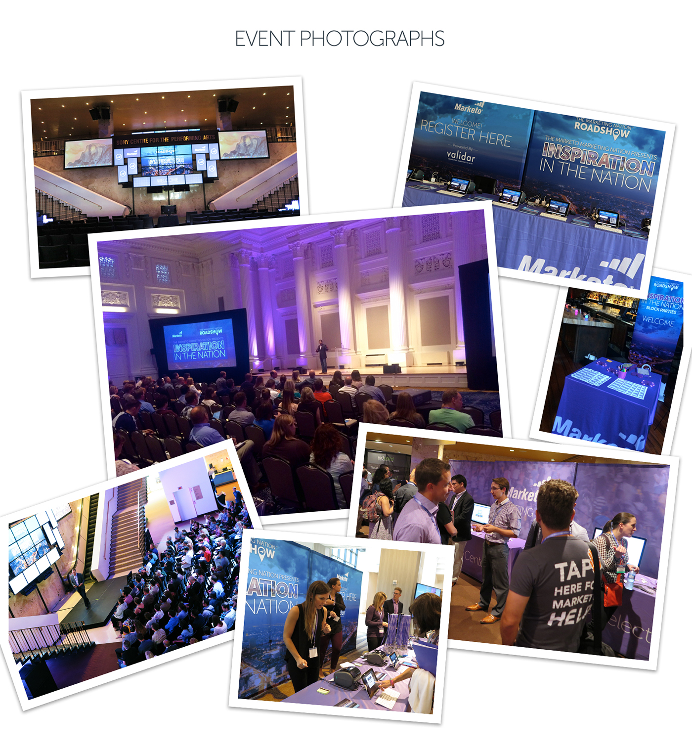 Website Event conference Roadshow video booth pullup brand Trade Show