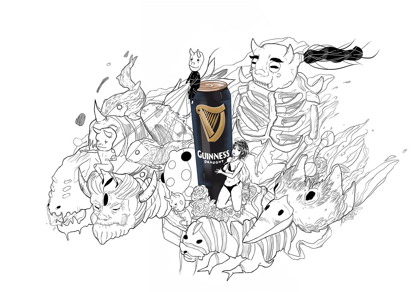 artist artwork colours creatures Digital Art  Drawing  ILLUSTRATION  monsters parade Procreate