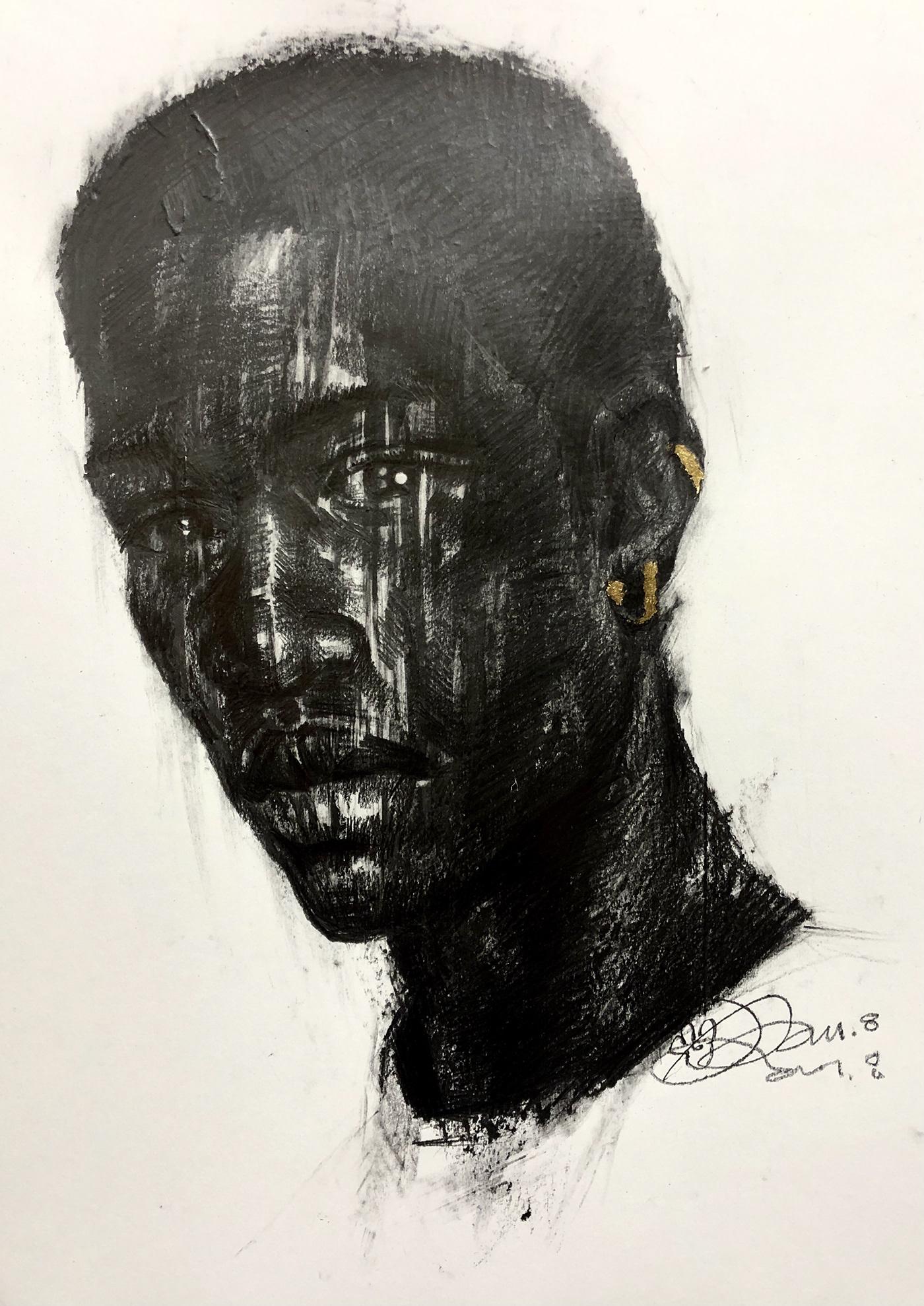 artist artwork body Drawing  emotion face girls image man model paper