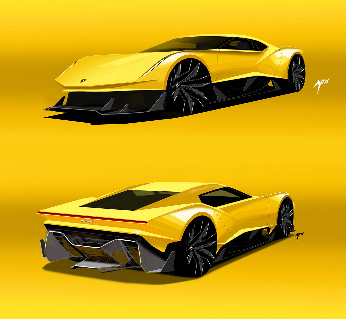 Sketchbook Lamborghini Miura Concept On Behance