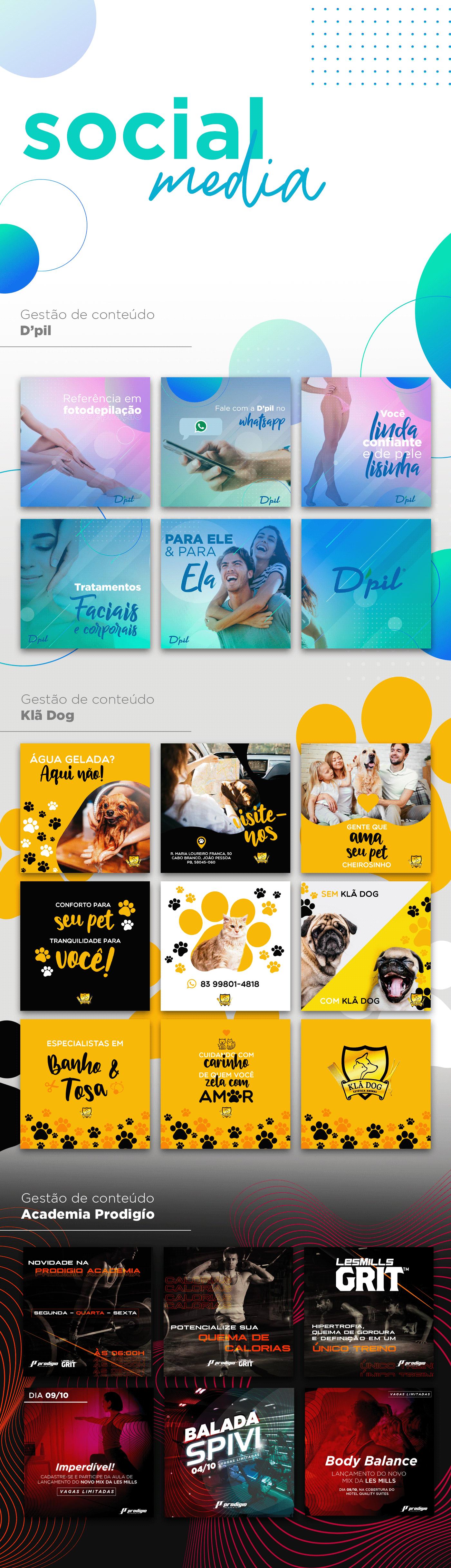 social media João Pessoa Paraíba IFPB cabedelo Depilação academia pet shop cães gatos