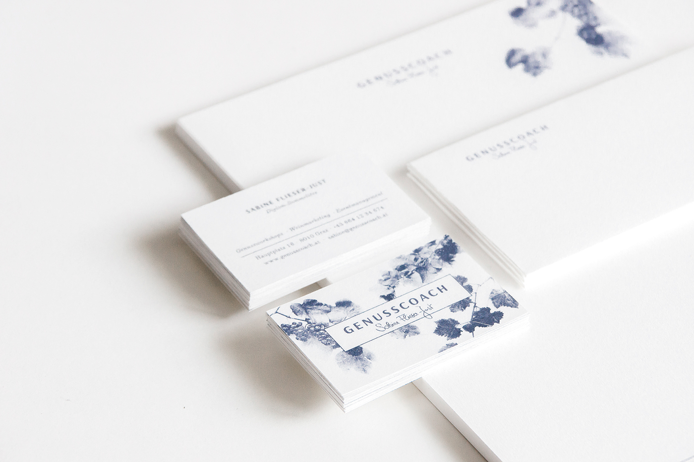 identity Business Cards Stationery wine vines grapes corporate brand logo