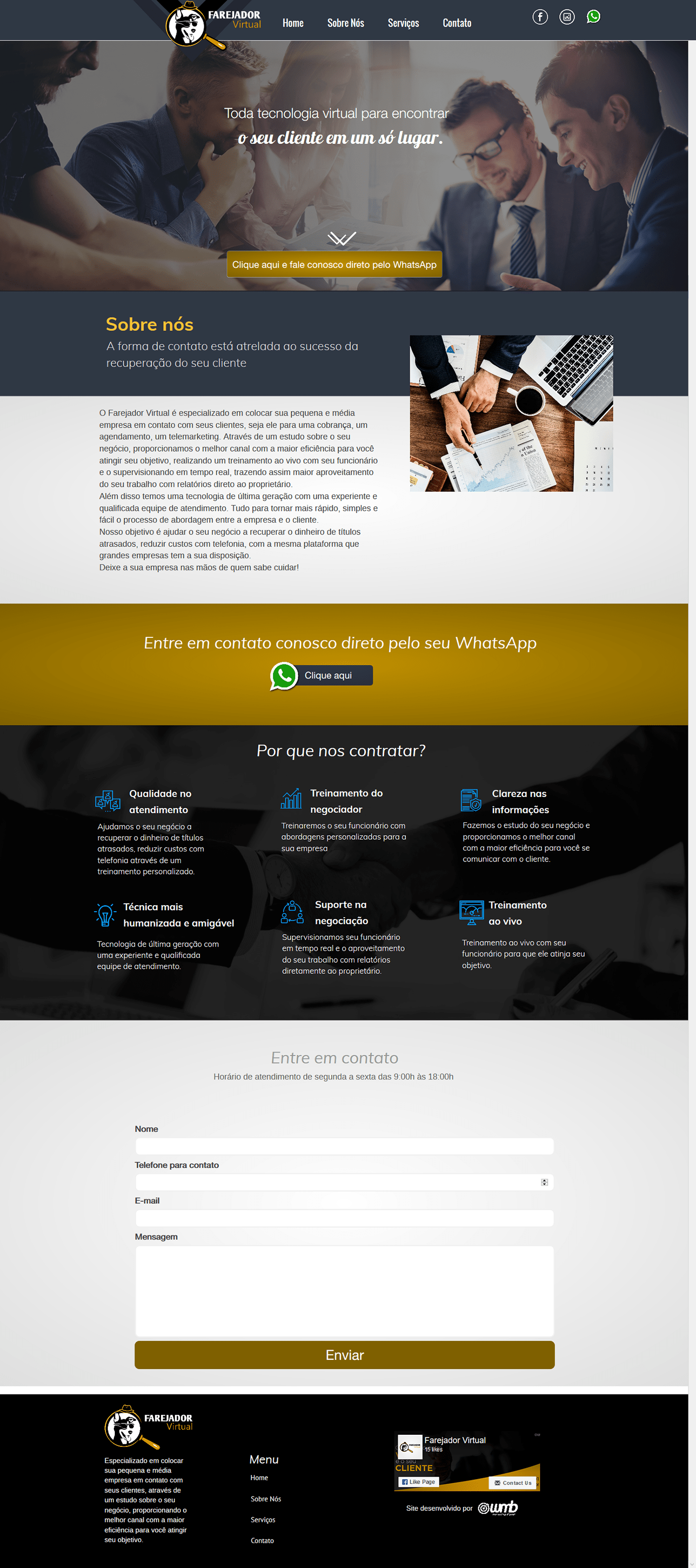 farejador virtual site