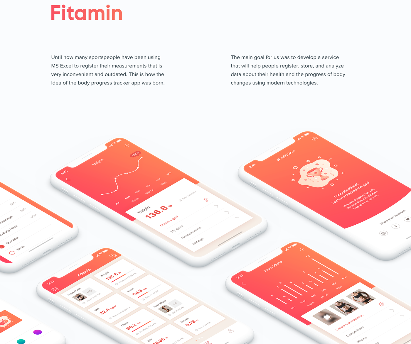 UI mobile animation  ux interaction Interface fitness Health gradient app
