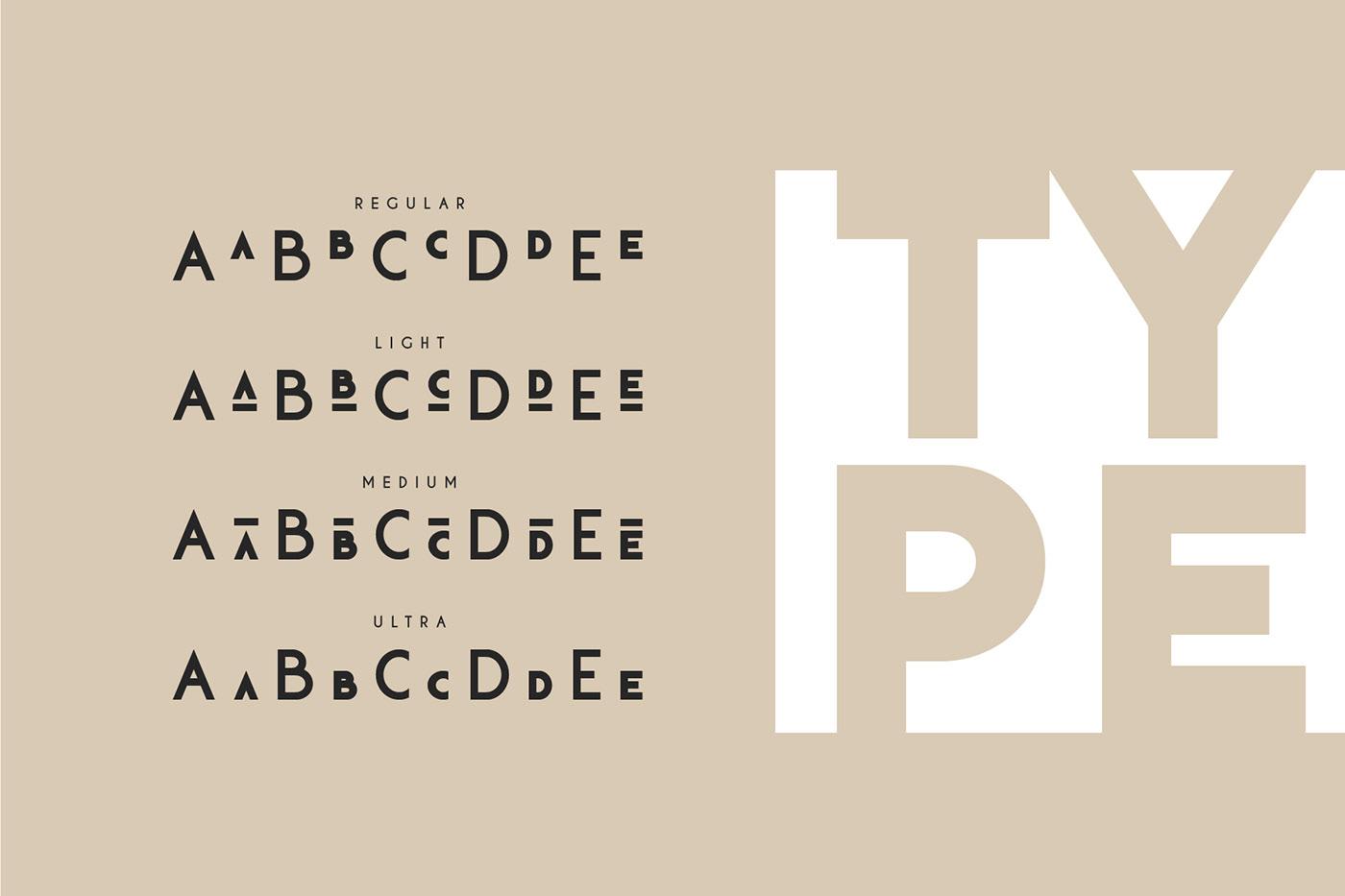 klark font family otf type typography   ttf geometric minimal modern