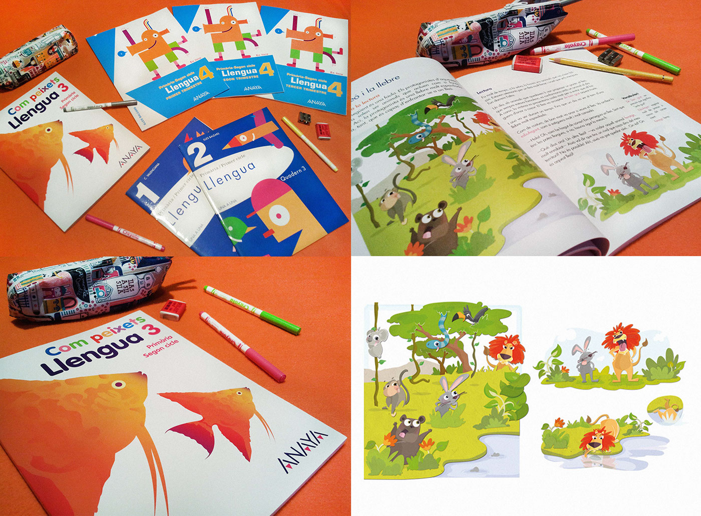 ilustracion infantil libro de texto editorial educación primaria