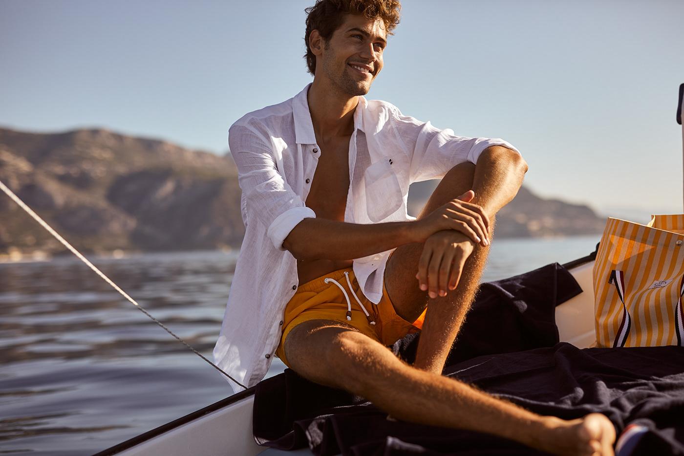 BEACHWEAR campaign cote d'azur male model Monaco Riviera ss20 Summerwear swimwear
