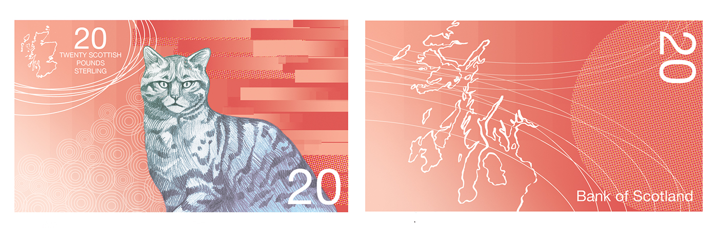 currency money Banknote scotland scottish sterling pound redesign Bank