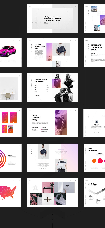 modern infographics template popular portfolio slide business presentation Powerpoint free