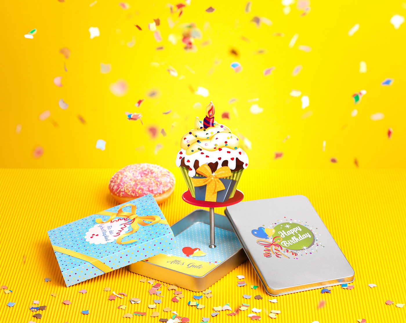 Packaging gift happy Birthday Like product design