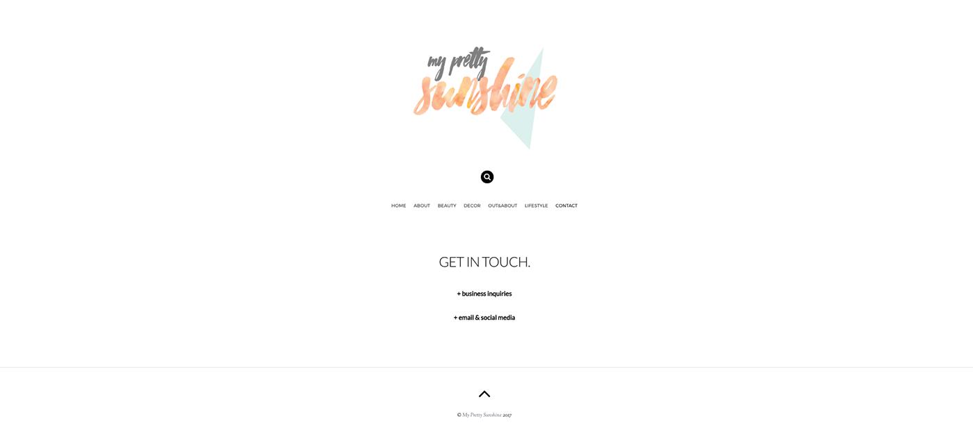MyPrettySunshine - Web Design & Implementation - WP