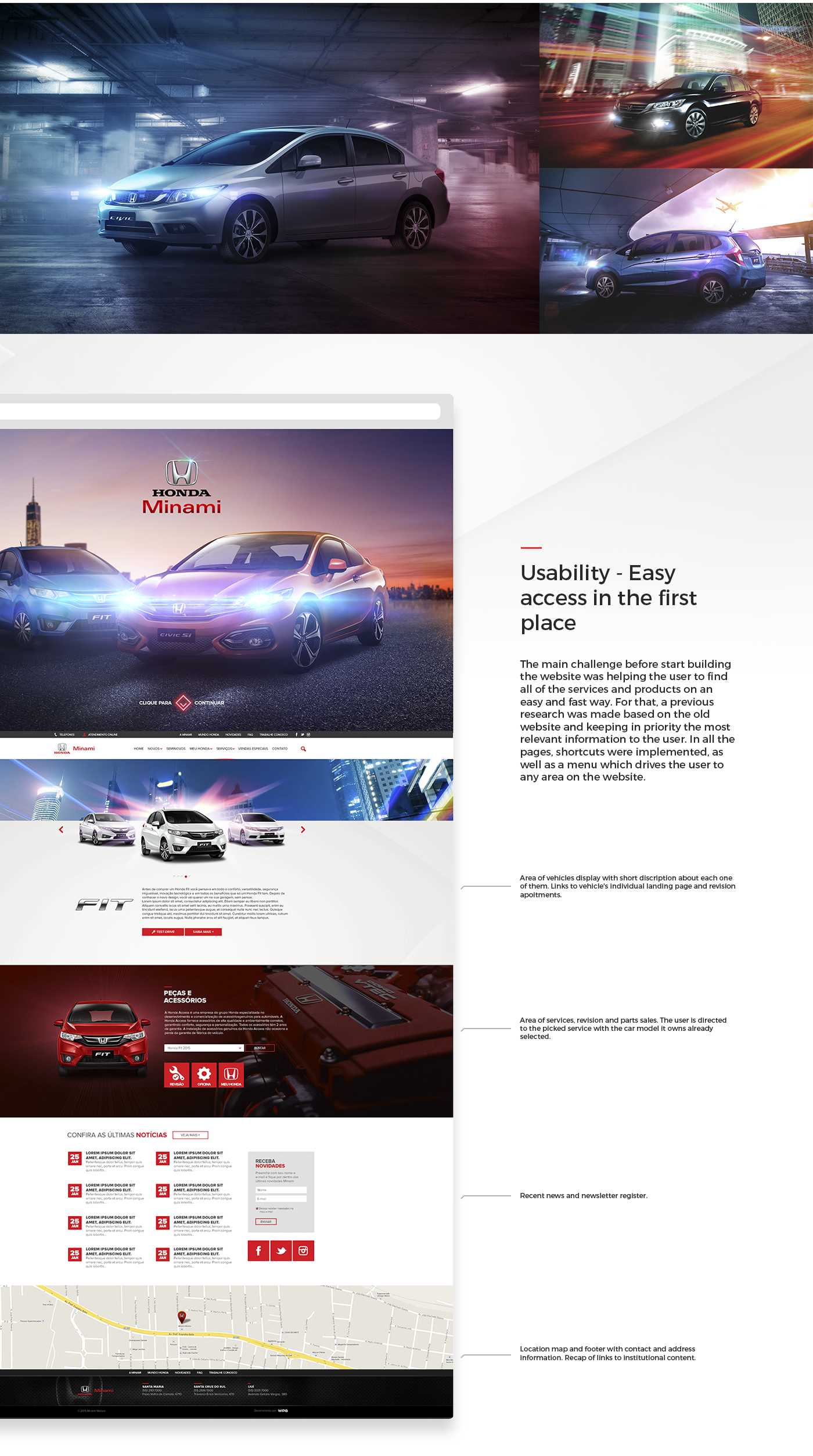 Responsive mobile Honda Website car Brazil Brasil