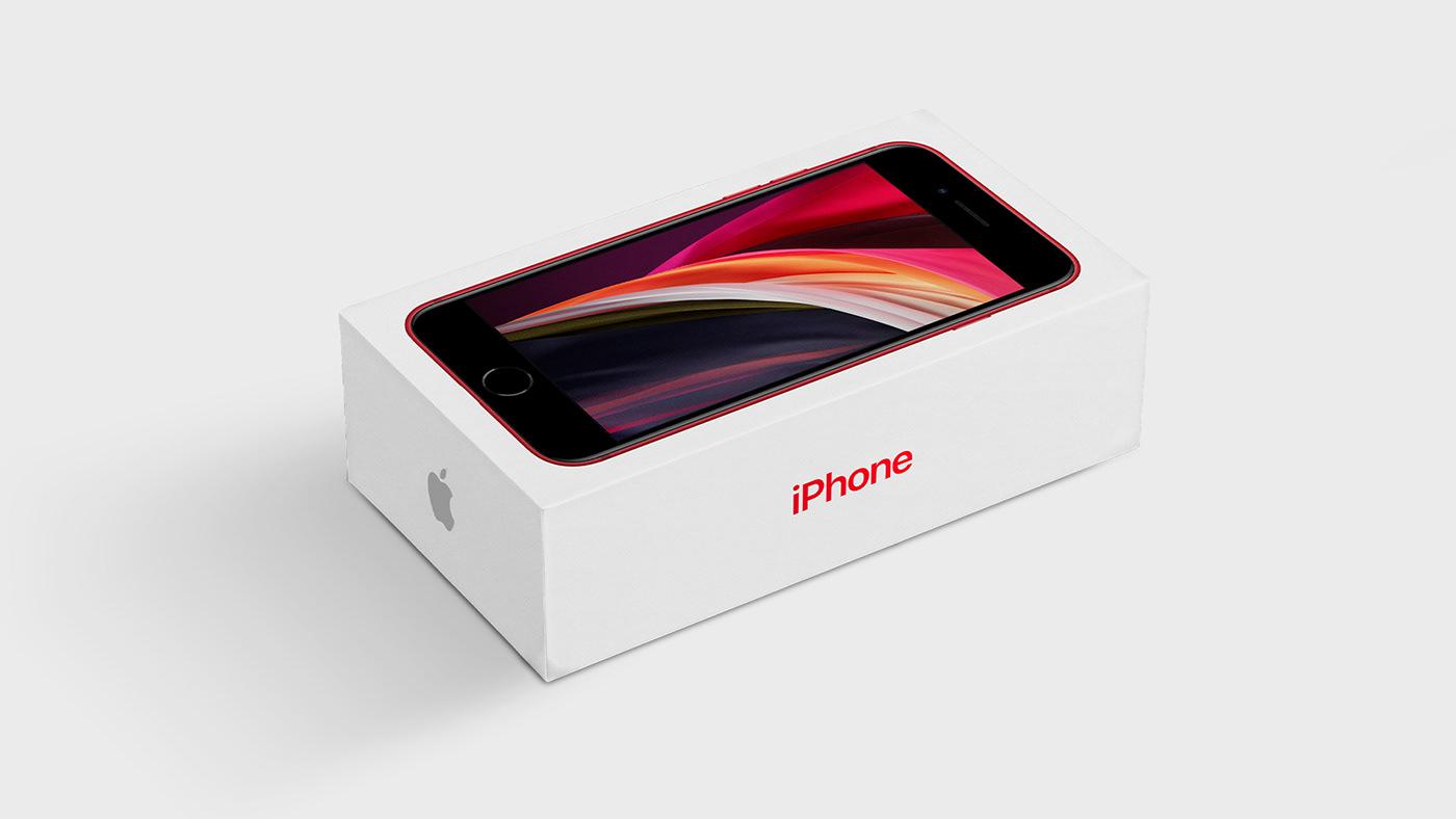 apple Box apple free iphone se Mockup apple mockup