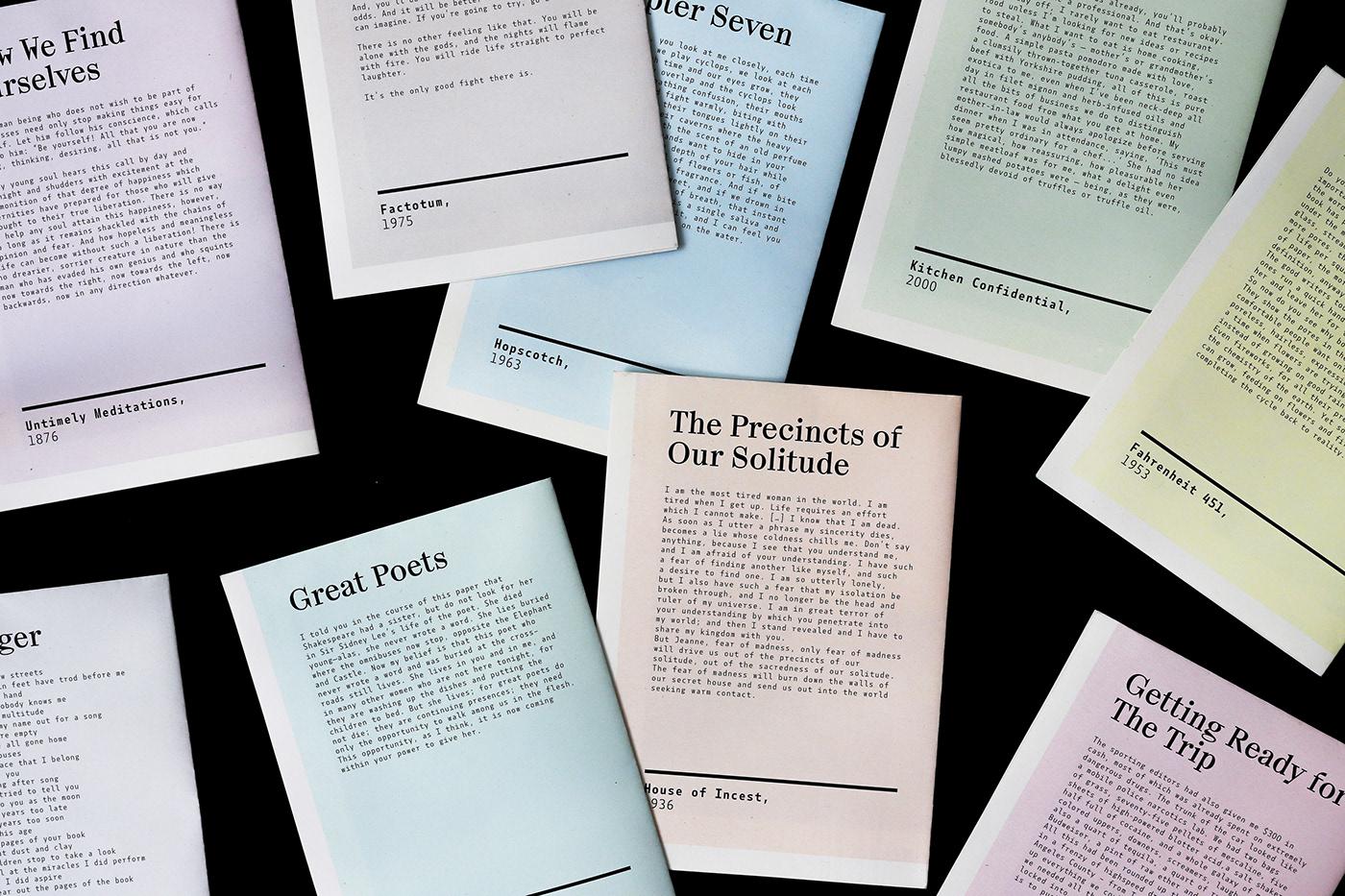 graphic design  editorial design  literature fanzine print art direction  Layout branding  book Packaging