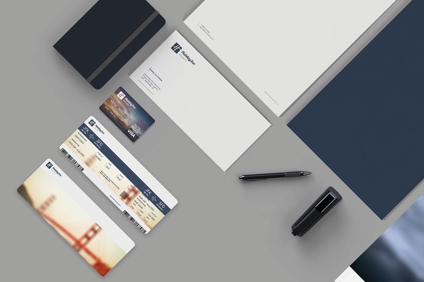 logo corporate app design Holiday Inn rebranding