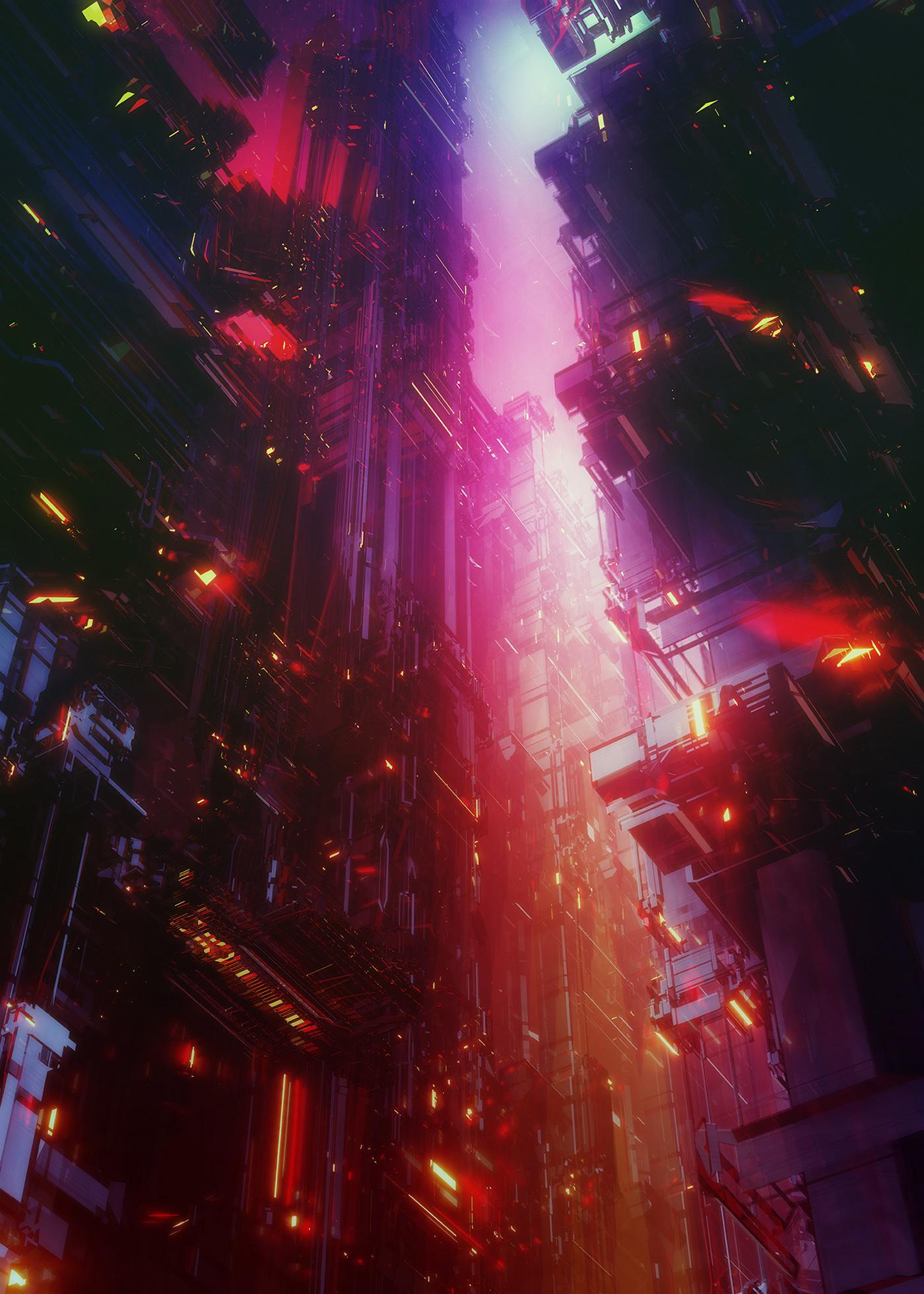 city concept enviroment future Landscape Scifi structures