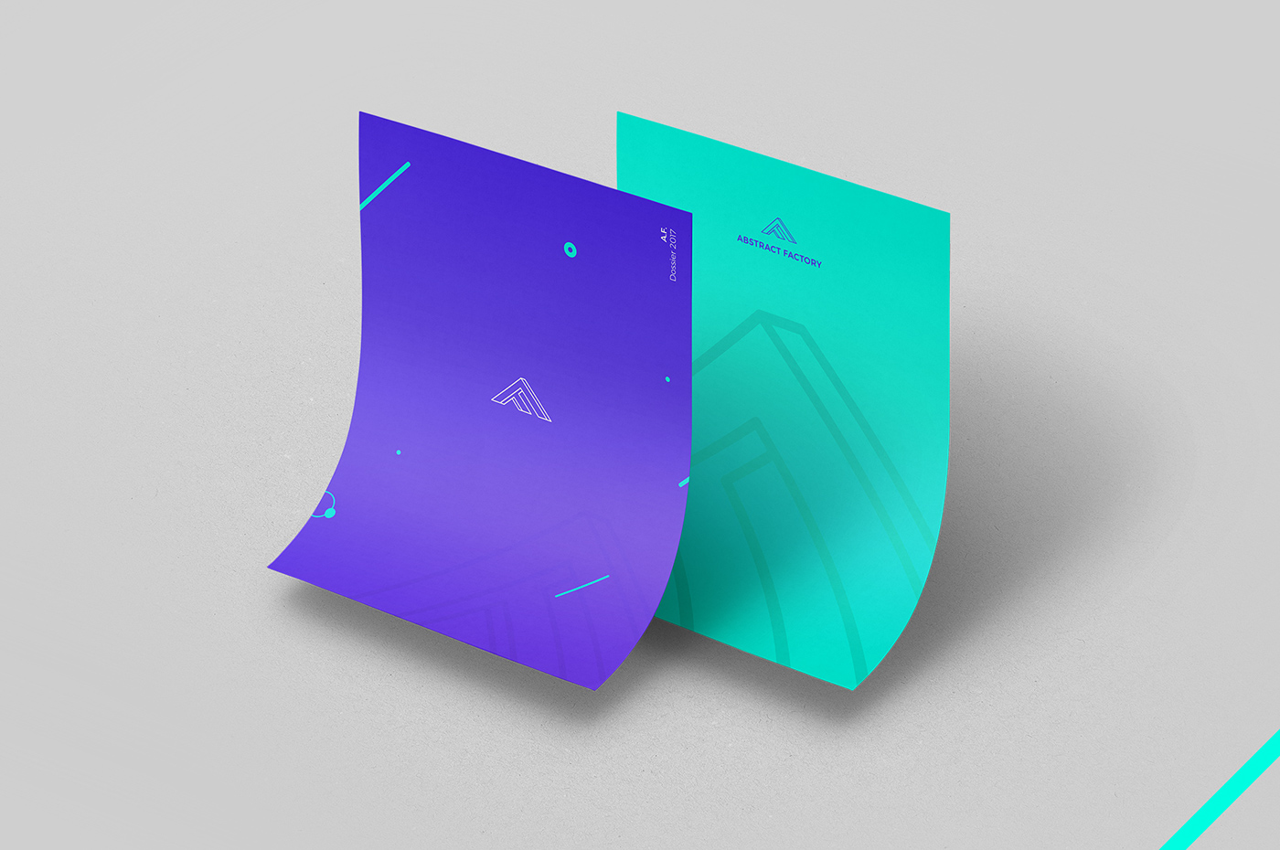 logo identity brand digital violet purple green abstract factory