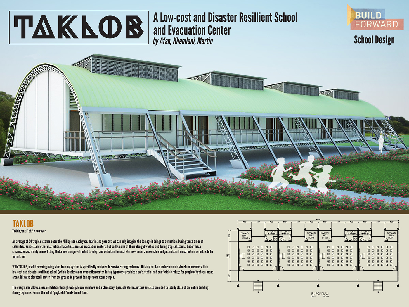Taklob a low cost and disaster resilient school design on for Sedie design low cost