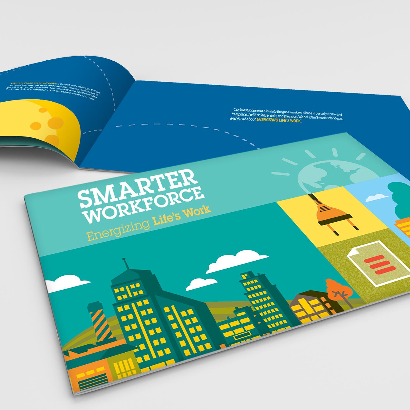 IBM Smarter Workforce Brochure Mock-up on Behance