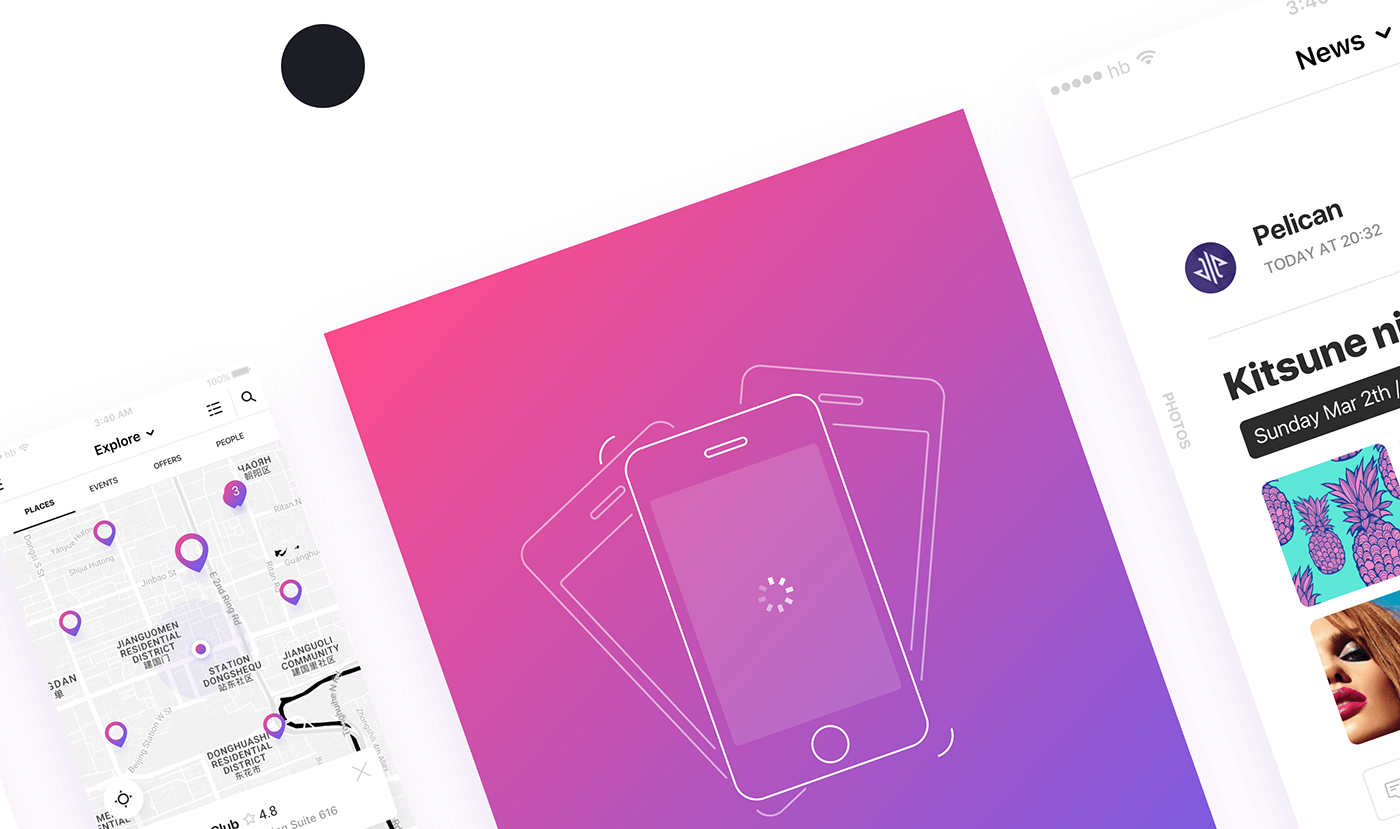application ios motion interaction Web Design  UI ux Interface party mobile