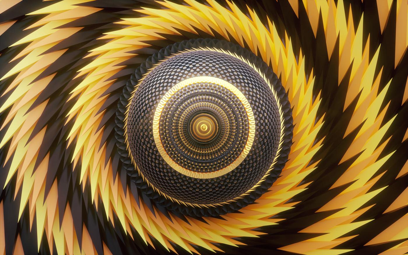 eagle chameleon raven bee snake eyes geometric 3D