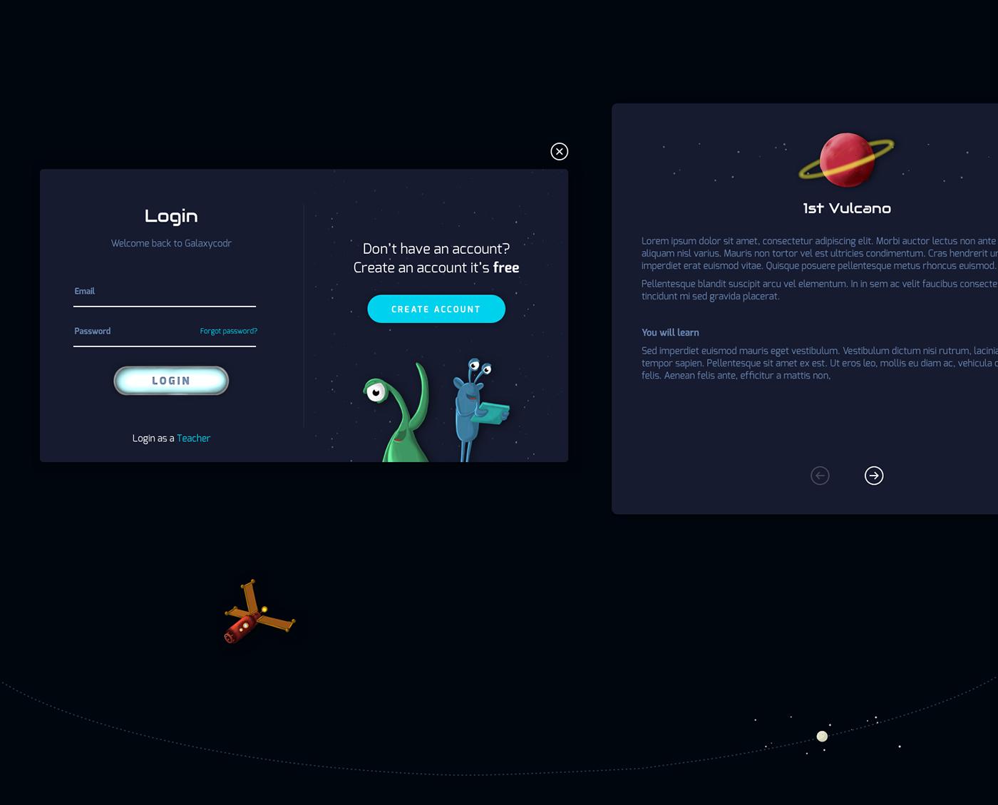 galaxy programming  kids game playfull Space  monsters universe Fun