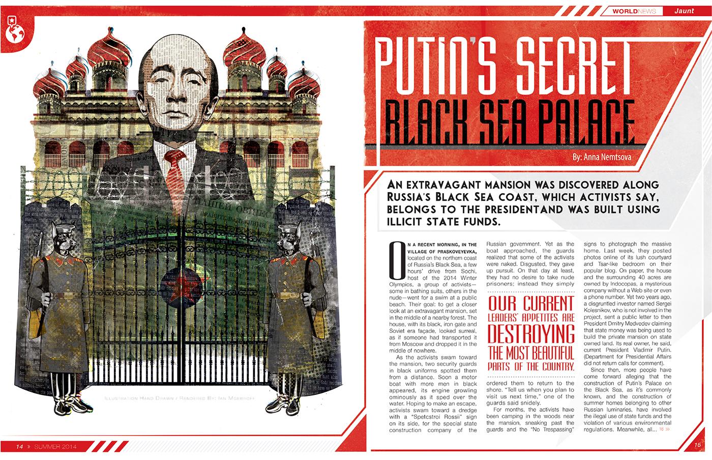 Putin's Secret Black Sea Palace on Behance