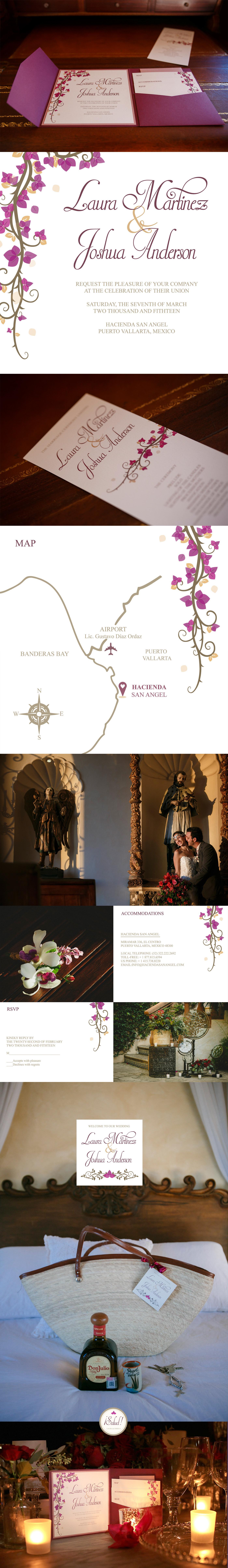 wedding stationery wedding invite rsvp Boda puerto vallarta mexico