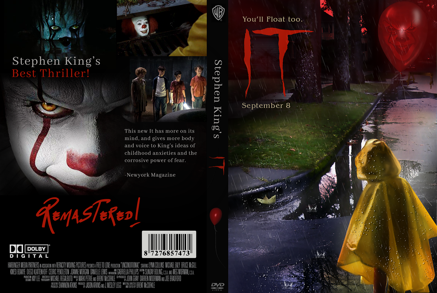 The Movie It Dvd Cover Design On Behance