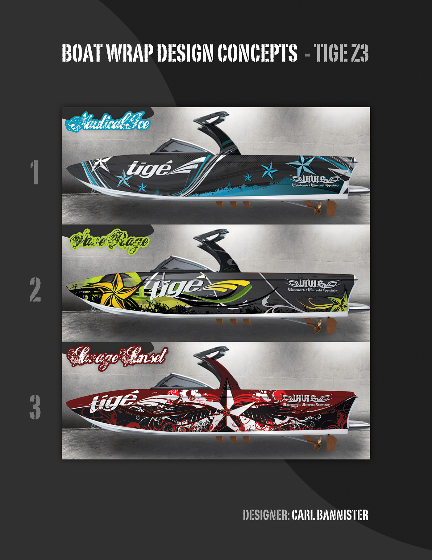 2015 Tige Custom Boat Wrap Concepts On Behance