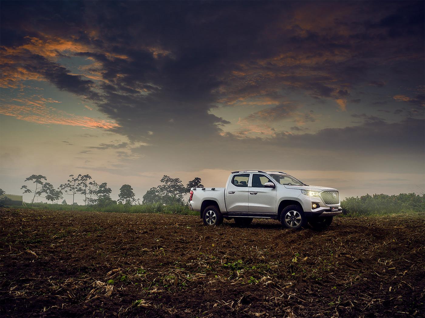 Advertising  automotive   Autos car Ecuador editorial pickup truck publicidad retoque retouch