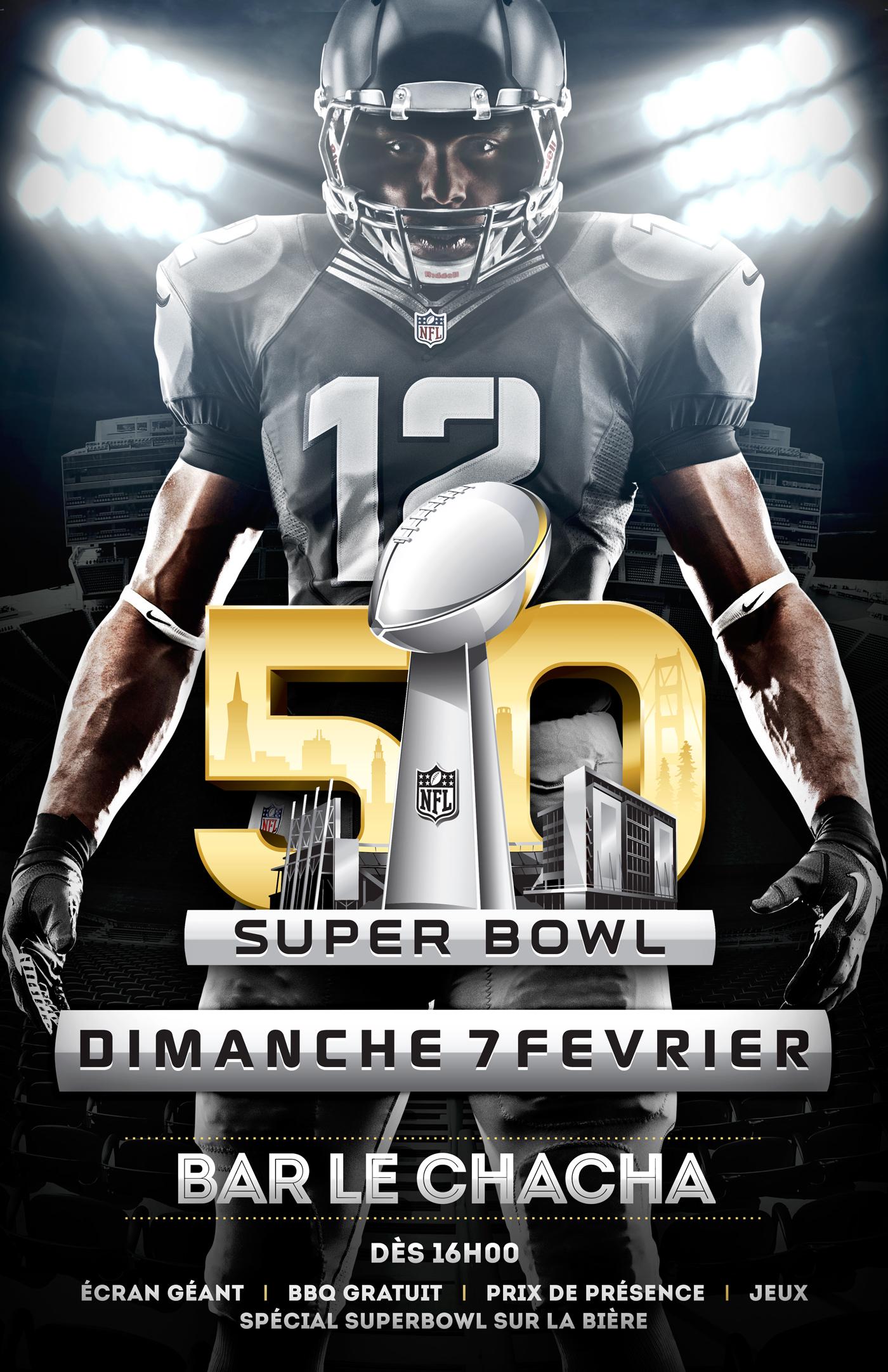 flyer poster affiche superbowl