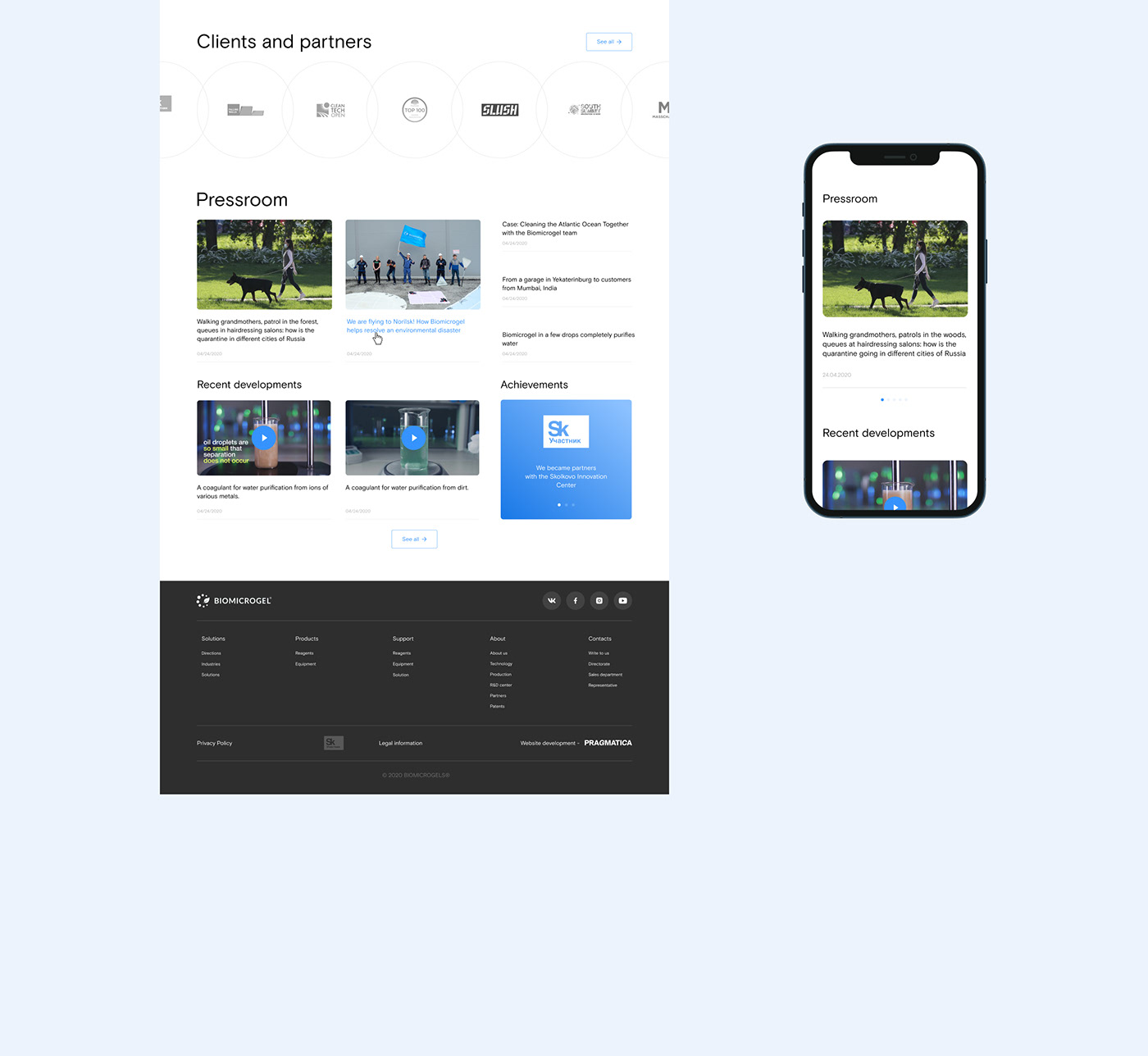 cleaning water Ecology gel oil Startup Technology UI ux water Web