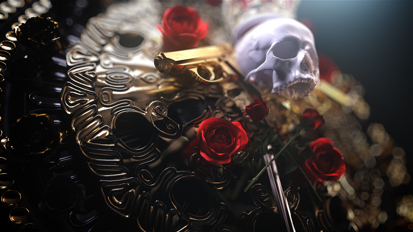 crest Totem queen Mzansi Magic   birthmark rose Mandala skull Gun