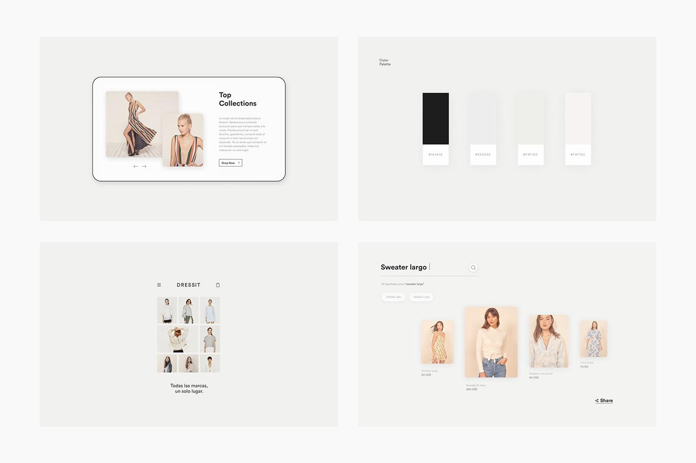 brand branding  design dress Fashion  Logotype marcas moda Shopping Web