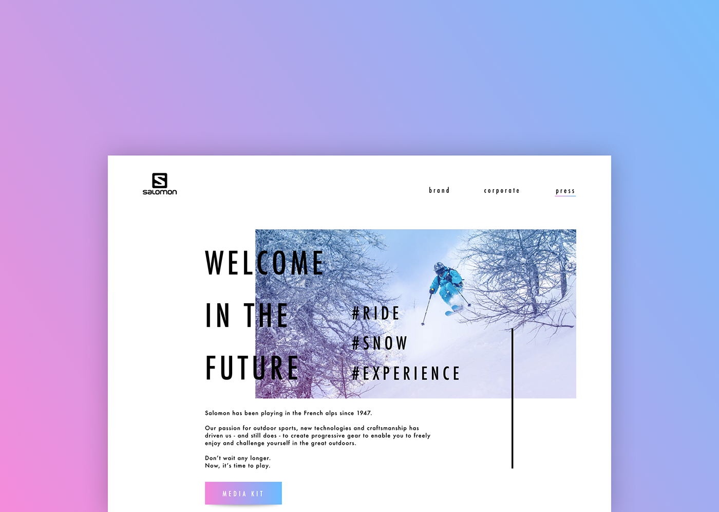 Press page daily ui minimal minimalist design Webdesign UI ux Interface Salomon