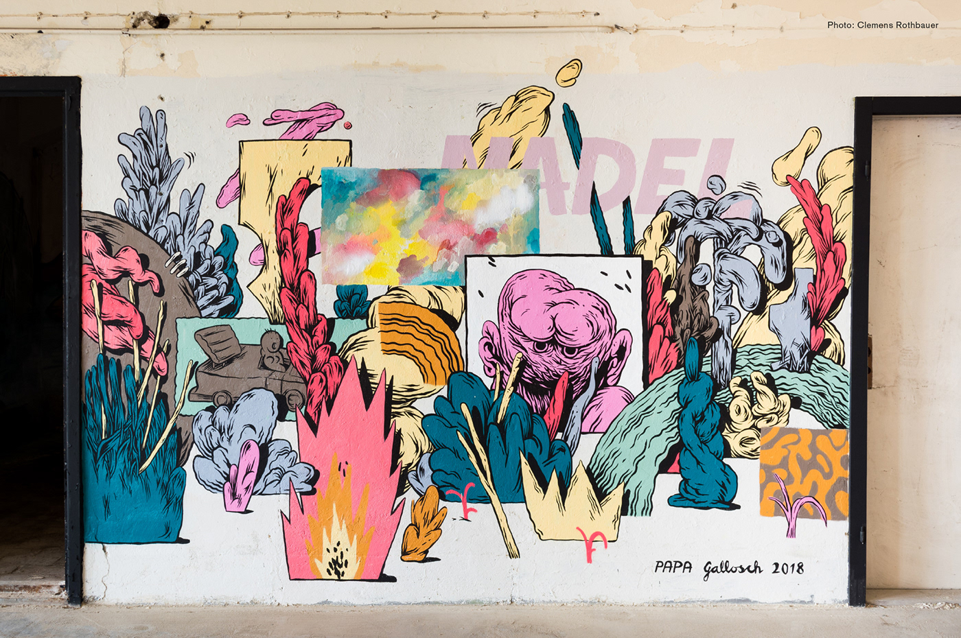 illuistration Street Art  Mural Graffiti Nature collage abstract comic contemporary graphic