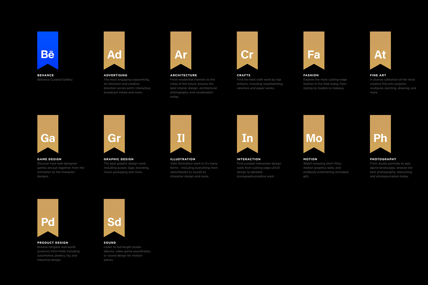 Badges free Behance cover aiga curated gallery mike yukhtenko portfolio