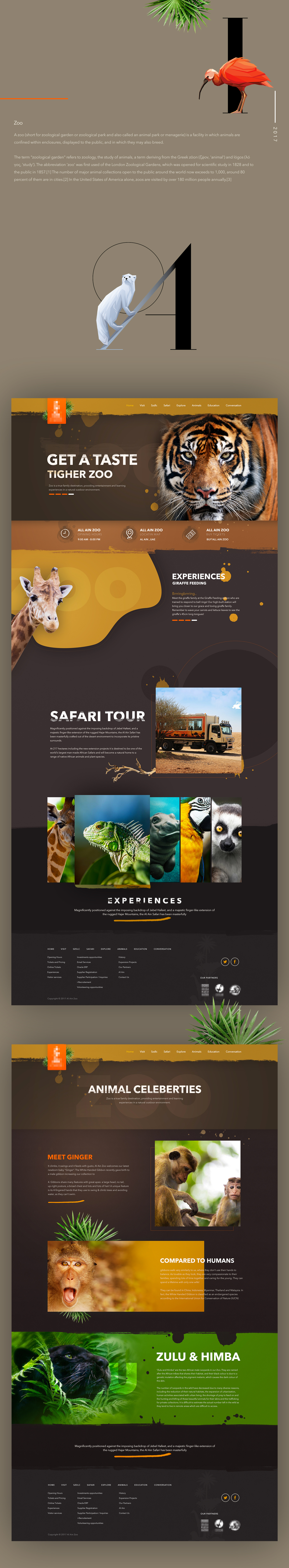 Web desing zoo animal Responsive logo color