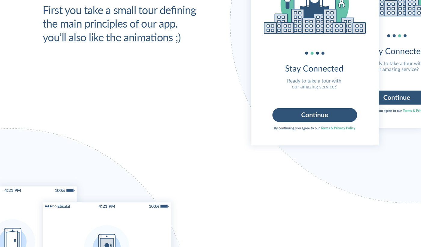 UI ux Web mobile logo home care services request app