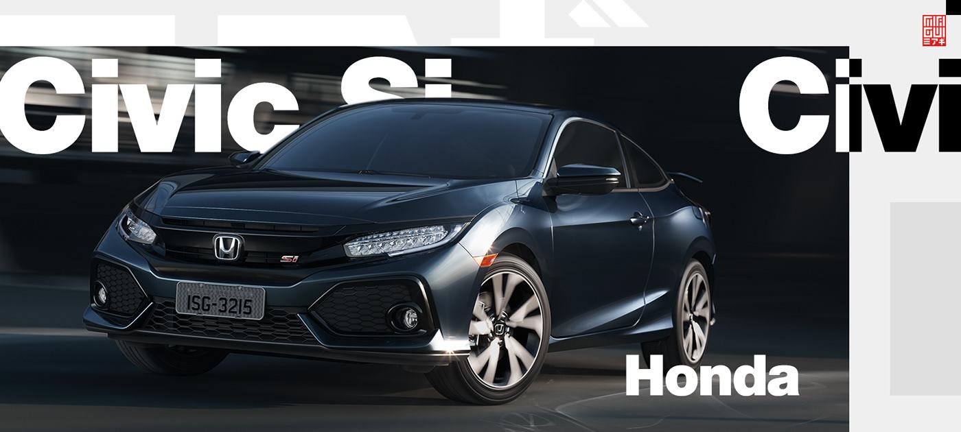 Honda automotive   car postproduction Render CGI 3D retouching