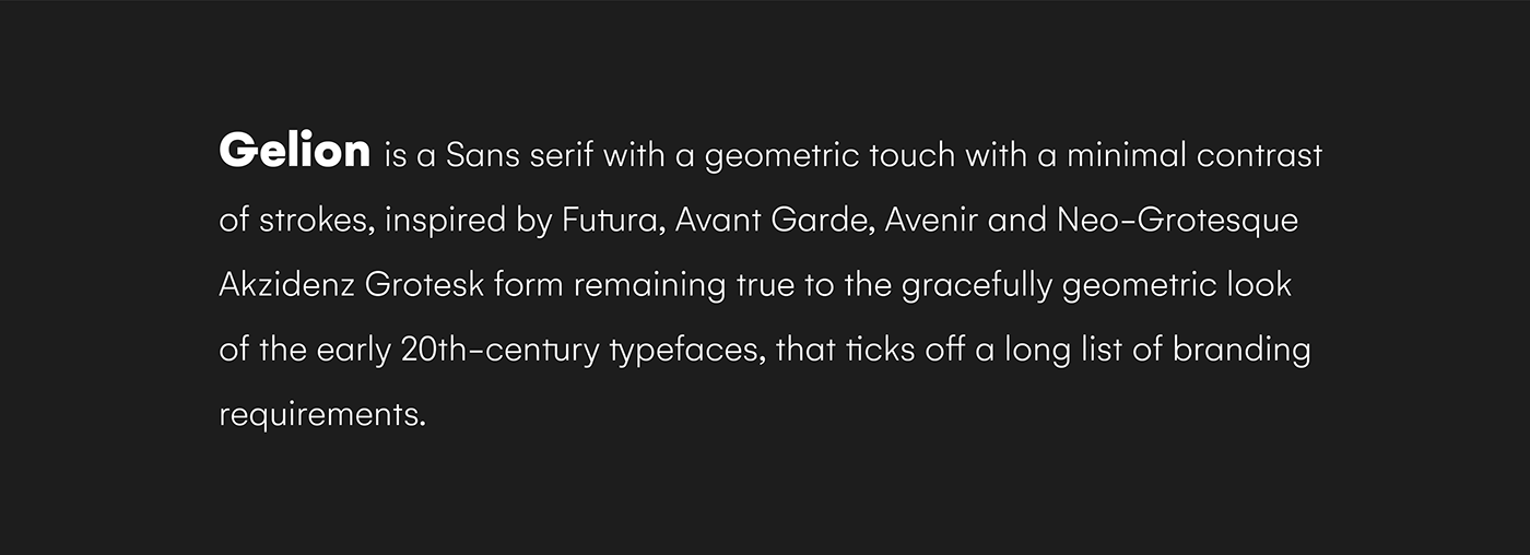 Gelion is a Sans Serif Typeface with a Geometric Touch