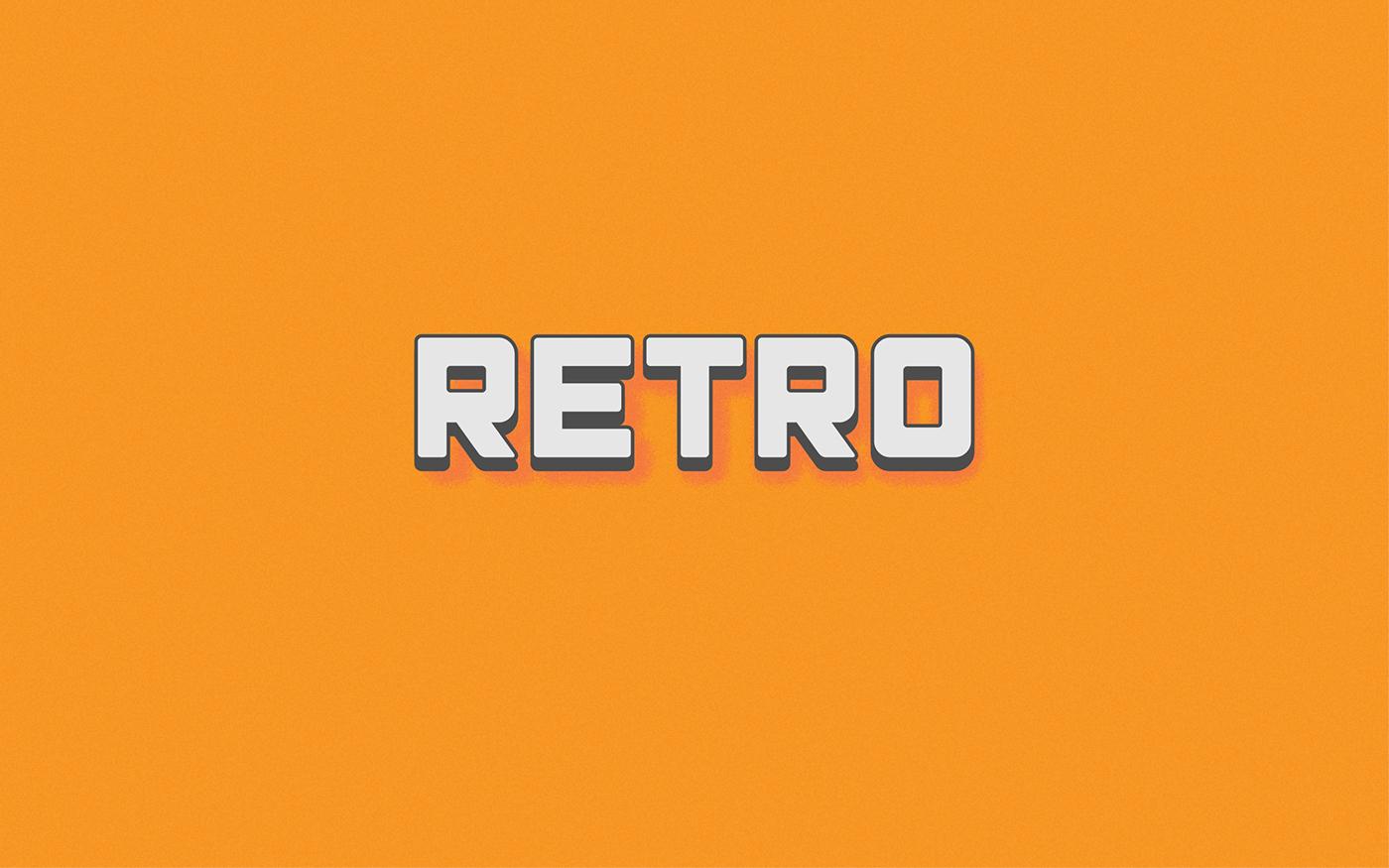 monk Display Typeface modern vintage Retro font Mono free freebie