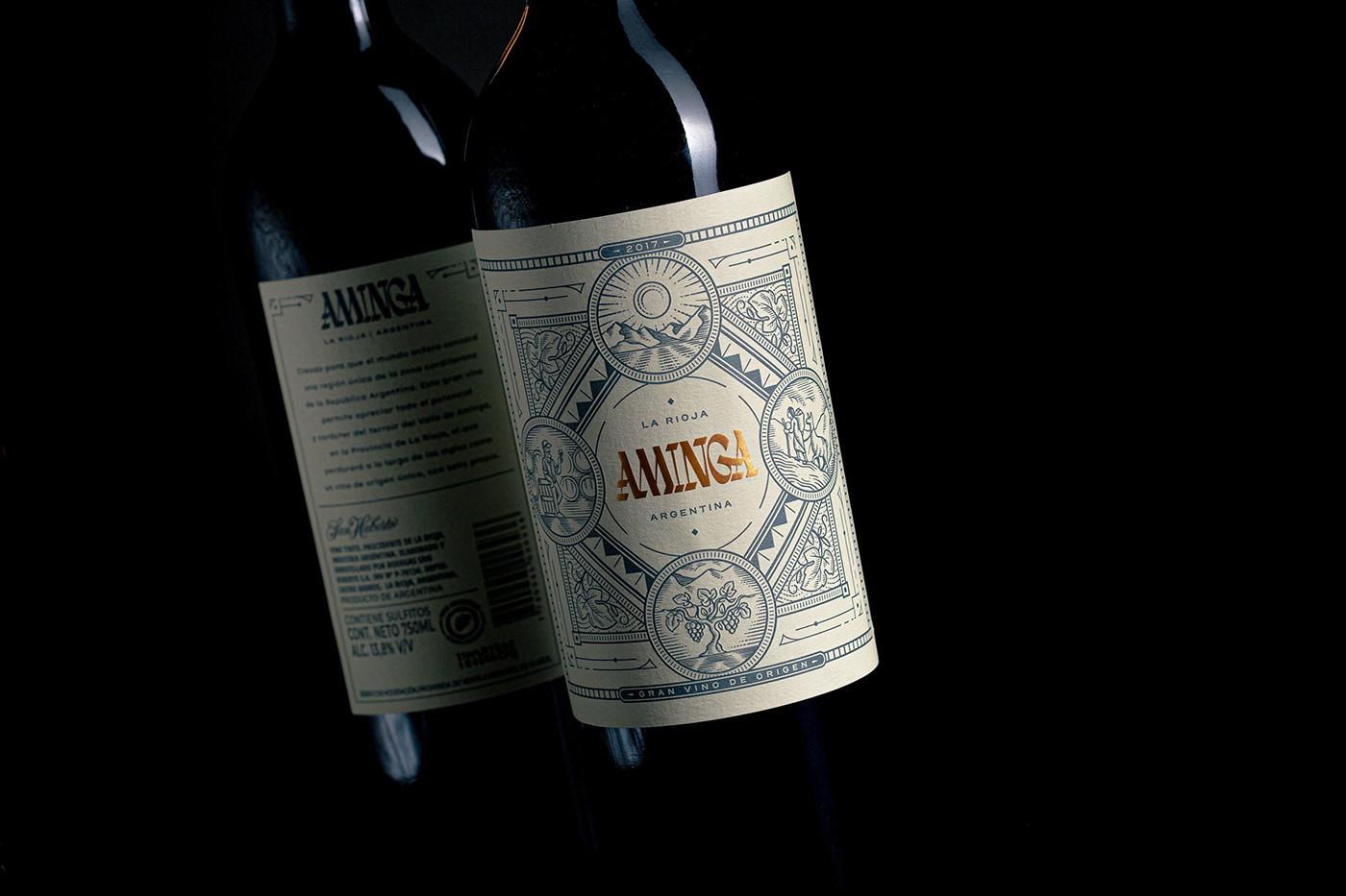 argentina ILLUSTRATION  label design lettering Logotype Packaging Sommelier vino wine winedesign